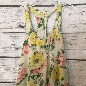 Women's Forever21 Sleeveless Floral Top Sz M